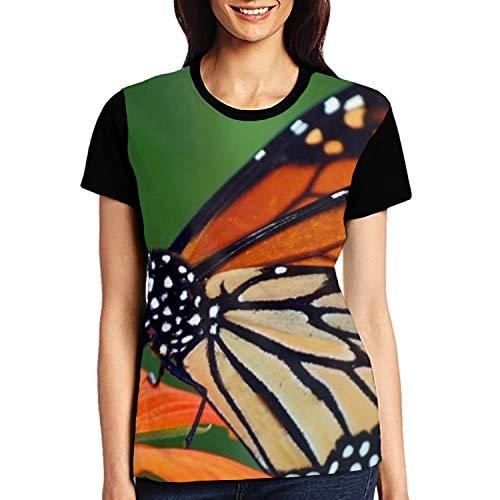 Monarch Butterfly Womens Slim Fit Crewneck Short Sleeve Shirts ()