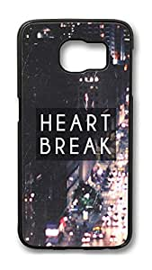 Brian114 Case, S6 Case, Samsung Galaxy S6 Case Cover, Heart Break Retro Protective Hard PC Back Case for S6 ( Black )
