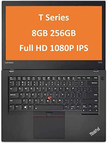 "2019 Lenovo ThinkPad T470 14"" IPS Full HD FHD (1920x1080) Business Laptop (Intel Core i5-6300U, 8GB DDR4 RAM, 256GB PCIe NVMe M.2 SSD) Thunderbolt, Type-C, HDMI RJ-45, Windows 10 Professional 64 Bit"