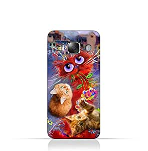Samsung Galaxy E5 TPU Protective Silicone Case with Cats Design