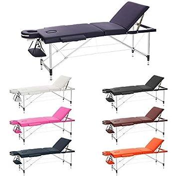 06e86860c46e H-ROOT 3 Section Ultralight Aluminium Folding Massage Table Portable Beauty  Salon Chair Compact Plinth