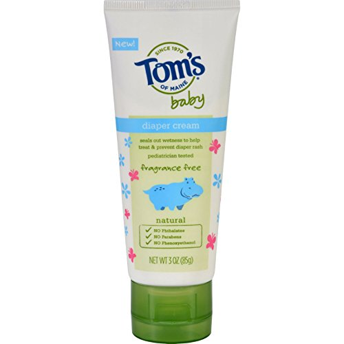 Toms of Maine Diaper Cream - Baby - Fragrance Free - 3 oz - Case of 6 (Pack of 2) by Tom's of Maine
