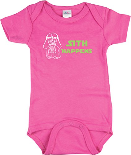 Girls Star Wars Bodysuit, Sith Happens Shirt, Star Wars Inspired, Pink 3-6 -