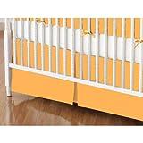 SheetWorld - Crib Skirt (28 x 52) - Solid Orange