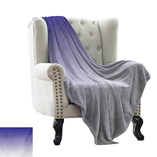 BelleAckerman Outdoor Blanket Ombre,Twilight in The Morning Dawn of The Day Inspired Color Ombre Design Digital Print,Indigo White Throw Blanket for Ultimate Comfort 50