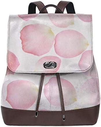 Flyup Women's Leather Backpack Petal Fashion Shoulder SchoolBag PU Travel Bag Frauen Leder Rucksack