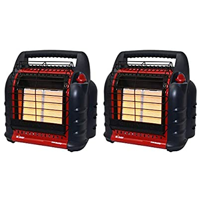 Mr Heater 4000 to 18000 BTU Big Buddy Portable Liquid Propane Gas Heater Unit (2 Pack)
