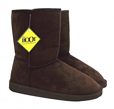 089c5773ba7 The Boot Australia' Short Brown Ugg-Style Boots: Amazon.co.uk: Shoes ...