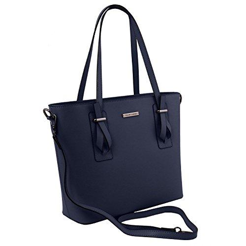 Piel Bolso Leather Rojo Afrodite Azul en Oscuro Shopping Tuscany SO7xqq