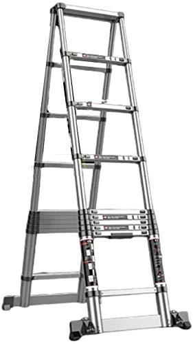 はしご アルミ台 伸縮はしご 家庭用伸縮はしご、階段を持ち上げるエンジニアリングのためのワンボタン後退拡張ラダー多目的折りたたみ 便座とフレーム (Size, 3.5m),3.05m