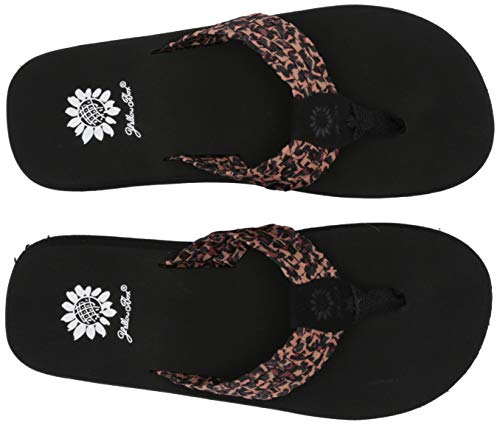 (Yellow Box Women's Soleil Flip-Flop, Leopard, 7.5 M)