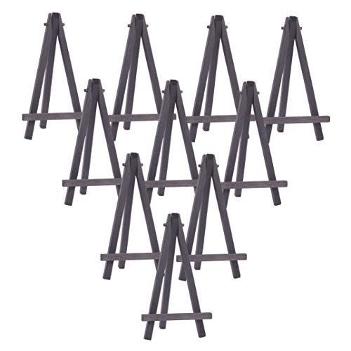 WANDIC Mini Wood Display Easel, 15 Pcs Black Tabletop Art Easel Painting Easels for Kids Artist Adults Students Classroom Display