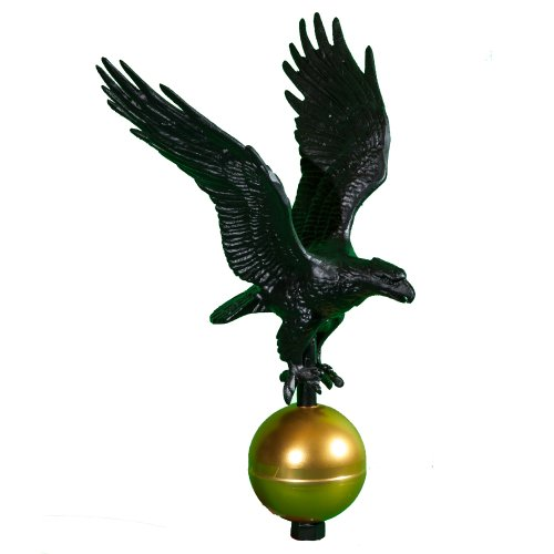 (Montague Metal Products Flagpole Eagle, 12-Inch, Black)