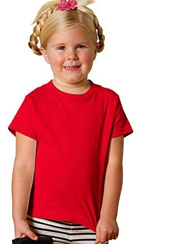 Rabbit Skins Toddler Jersey T-Shirt, Red, 4T