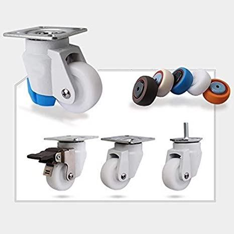 Color : Level Adjustment Casters General Purpose Brake Cylficl Casters 4 PCS Furniture Nylon Casters Heavy Industrial Transport 2 Inch Universal Rotary Brake 50 Mm 400 Kg Silent Universal