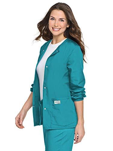 - Landau Women's Jewel Neckline Snap Ring Closure Jacket, Teal, X-Large