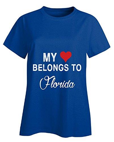 URBANTURB USA States Florida - Ladies T-Shirt Ladies M Royal