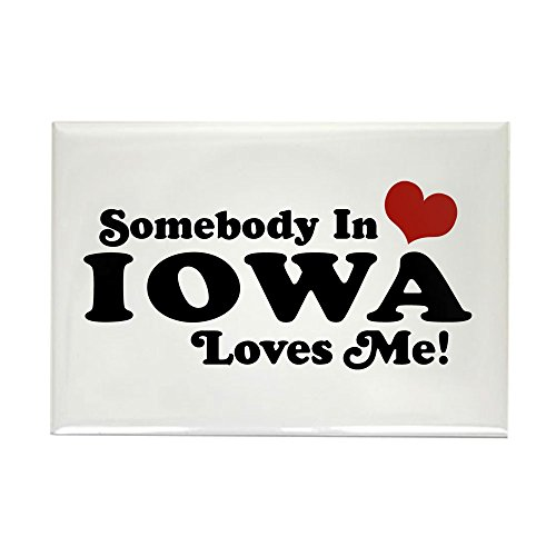 CafePress Somebody In Iowa Loves Me Rectangle Magnet, 2