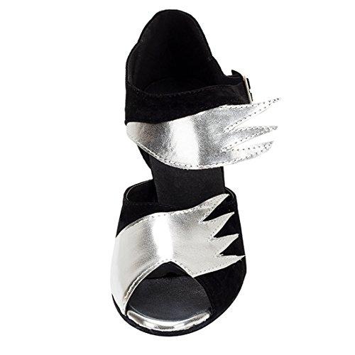 de Salon Heel Black Femme HW180513 Miyoopark MiyooparkUK 8 Danse Silver 5cm wTqITtB