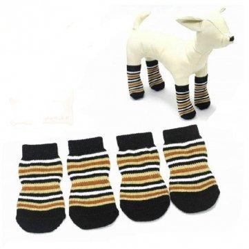 Gato Perro Calcetines Pet Horizontal marrón rayas algodón de punto antideslizante calcetines: Amazon.es: Hogar