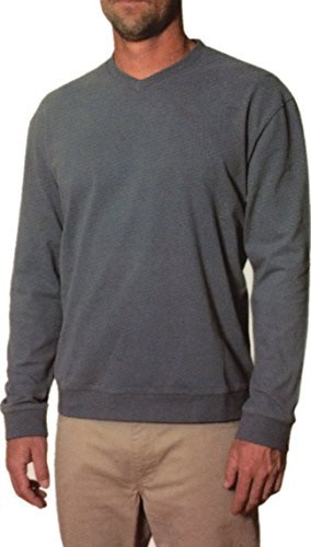 Freedom Foundry Men's Long Sleeve V-Neck and Crew Neck Shirt (Iron, ()