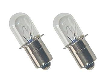 18 Volt Light Bulb: Ryobi FL1800 / Ridgid R849 Flashlight Replacement 18V Xenon .65a Bulb  (2-PACK,Lighting