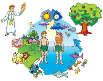 Little Folk Visuals Beginners Bible: Creation Precut Flannel/Felt Board Figures, 17 Pieces Set