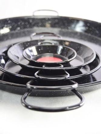 'Vaello' (80 cm) paellera - negro esmaltado