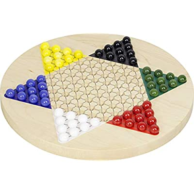 Printed Maple Chinese Checkers - Made in USA: Toys & Games