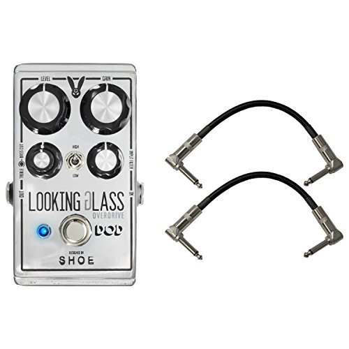 DOD Looking Glass Overdrive Pedal w/ 2 Patch Cables