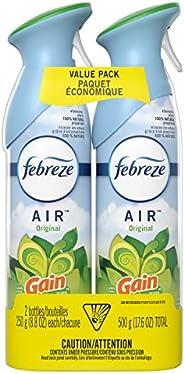 Febreze Air Freshener Spray, Odor Eliminator, Gain Original, 2 Count