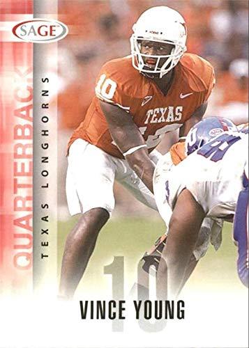 Vince Young football card (Texas Longhorns Quarterback) 2005 SAGE Rookie #59