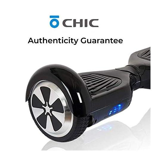 ACBK – Hover auto-équilibré avec roues de 6.5″ (Bluetooth + Lumières LED) Vitesse maximum: 10-12 km/h – Autonomie: 10-20 km (Noir)