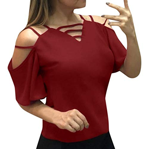 TOTOD Blouse Shirts Women Elegant Chiffon Tops Bow Splice Lace O-Neck Solid Jumper Casual Tunic T-Shirt