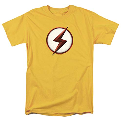 The Flash TV Series Kid Flash Logo T Shirt (Medium) Yellow (T-shirt Yellow Flash)