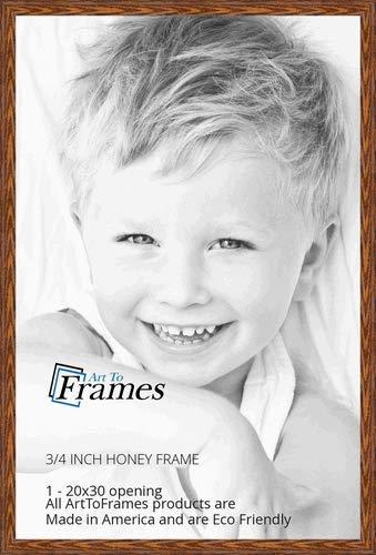 ArtToFrames 20x30 inch Honey Oak Wood Picture Frame, WOM01336-150-20x30