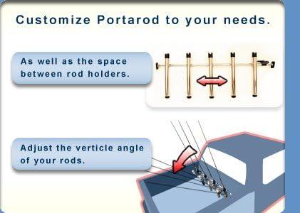 Portarod 5 Rod Holder Fishing Rod HolderTransporter for Truck Bed