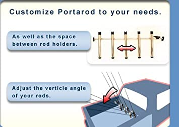 No Drilling or Bolts! Portarod Inshore 5 Rod Rack for Truck