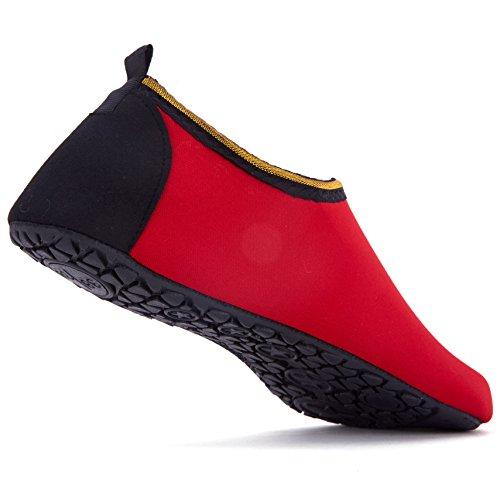 Giotto Scarpe Da Ginnastica A Piedi Nudi Yoga Beach Swim Aqua Shoes Per Donna Uomo G-rosso