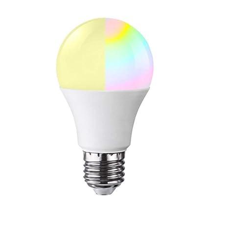 Bombillas de luz inteligente WiFi, rosca E27, luces LED ...
