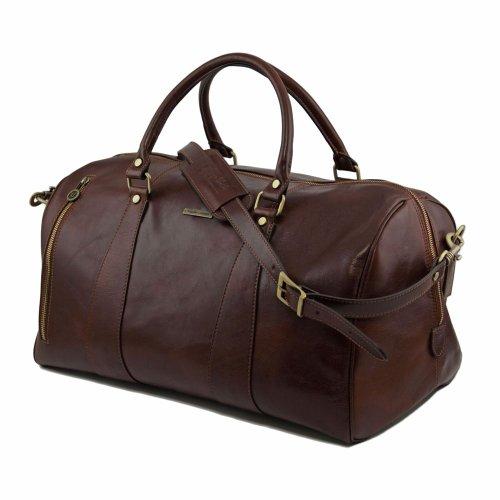 Tuscany Leather - sac de voyage en cuir - Marron