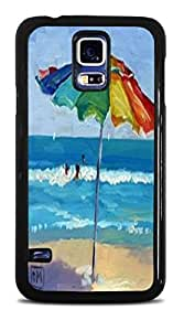 Colorful Beach Umbrella Black Hardshell Case for Samsung Galaxy S5 by supermalls