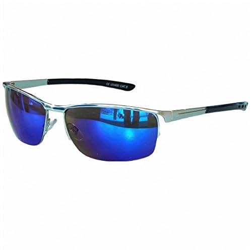 SunShineCos - Gafas de sol - para hombre Plateado M 21 medium Delicado 1c1a4c15acd