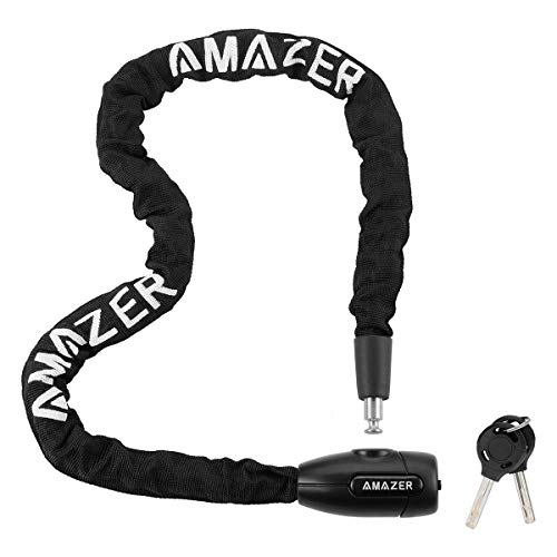 Amazer Bike Lock, Bike Chain Lock with Keys Security Anti-Theft Bicycle Chain Lock Bike Locks for Bike, Motorcycle, Bicycle, Door, Gate, Fence, Grill