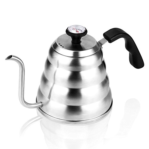 Coffee Kettle with Thermometer for Exact Temperature, 1.2Liter(41floz), Gooseneck Drip Kettle for Coffee, Tea, Home Brewing, Camping and Traveling by ECPURCHASE by ECPURCHASE