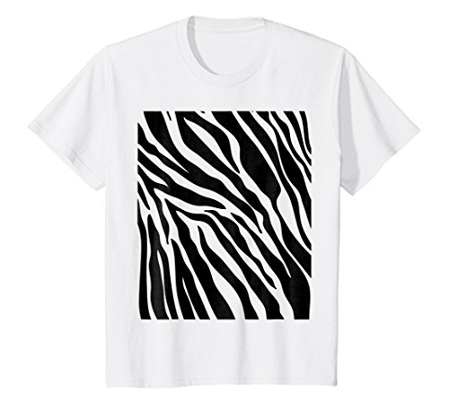 Kids Zebra Print Shirt, Simple Halloween Costume Idea Gift 6 (Boy Girl Costumes Ideas)