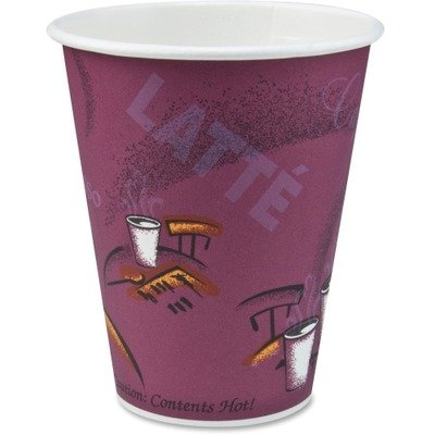 SOLO Cup Company 370SI-0041 Bistro Design Hot Drink Cups, Paper, 10 oz, (Case of 1,000)