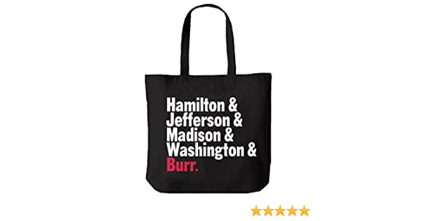 ade090f9407a61 Amazon.com: Official Hamilton An American Musical Names Tote Bag: Computers  & Accessories