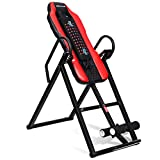 Goplus Heavy Duty Inversion Table Vibration Massage and Heat Comfort Back Stretching Machine
