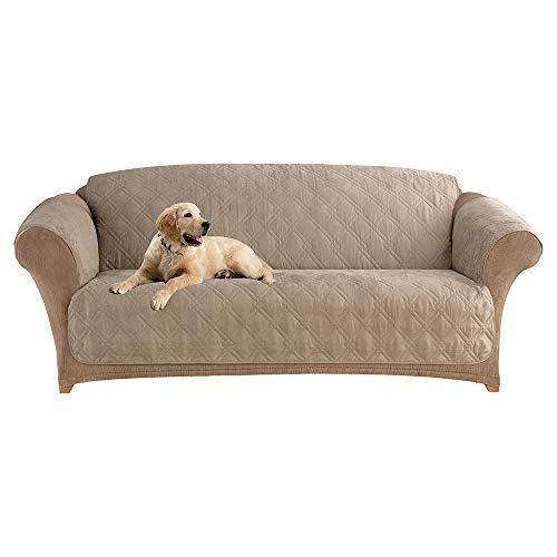 - SureFit  Microfiber Sofa Pet Throw/Slipcover with Arms, Sable